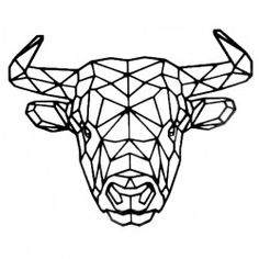 Geometric Quilt, Geometric Nail Art, Geometric Drawing, Geometric Shapes, Geometric Animal, Animal Paintings, Animal Drawings, Taurus Bull Tattoos, 3d Pen