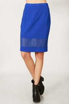 Blue Bolt Skirt