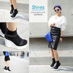 이예인 20 대학생 스타일난다 웨지힐  2015 F/W 서울 패션위크를 찾아가다.   Seoul fashion week 2015 F/W  shoesmagazine.co.kr #shoes #shoesmagazine #fashion #seoul #korea