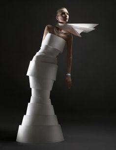 Pretty little things: Paper Sculpture Fashion by Zaharova and Plotnikov
