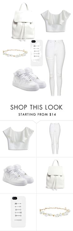 """""""angel day"""" by sarah-flewwelling on Polyvore featuring mode, Chicwish, Topshop, NIKE, Mansur Gavriel et Robert Rose"""