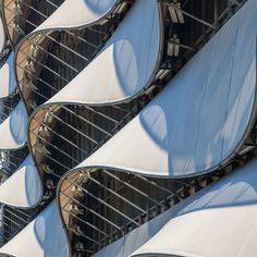 The Wave Car park Cardiff Bay. Architect: Scott Brownrigg. #ukcoastwalk Photo: Quintin Lake www.theperimeter.uk