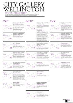 City Gallery Brochure & Calendar by Priya Chauhan, via Behance