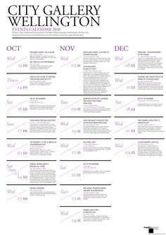 City Gallery Brochure & Calendar by Priya Chauhan, via Behance