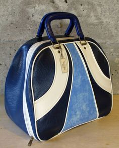 Beautiful Rare Handmade Vintage Bowling Ball Bag by, Triangle Leather Goods Company, Chicago, Illinois by MidModery on Etsy