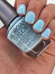 Beauty Summer Nail Colors To Try soft blue by Morgan Taylor