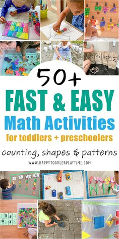 Math Activities For Toddlers, Creative Activities For Kids, Infant Activities, Toddler Preschool, Preschool At Home, Hands On Activities, Play Based Learning, Learning Through Play, Fun Learning