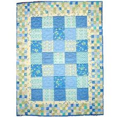 ~ Newborn Snuggler.... This fast, cute quilt is perfect for using fabric fat quarter packs... link to pdf`