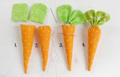 Easter İdeas 542683823847723864 - stuff the carrot body and attach the leaves to finish your carrots Source by henrihermann Bunny Crafts, Easter Crafts, Spring Crafts, Holiday Crafts, Diy And Crafts, Crafts For Kids, Easy Sewing Patterns, Pattern Sewing, Free Pattern
