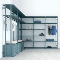 Closet Opened in Color Marina Water Small Dressing Rooms, Dressing Room Closet, Dressing Room Design, Wardrobe Internal Design, Open Wardrobe, Custom Closet Design, Closet Designs, Life Box, Modern Closet