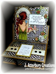 J. ATTERBURY CREATIONS: Scripture Series: A Shield For Me Easel Calendar Drawer---It's Another Anything Goes Challenge with Optional Twist a...