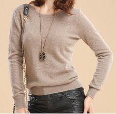 2016 Cashmere wool Sweater Women Sweaters and Pullovers Women Fashion o-neck sweater solid Color Long sleeve Knitted Sweater