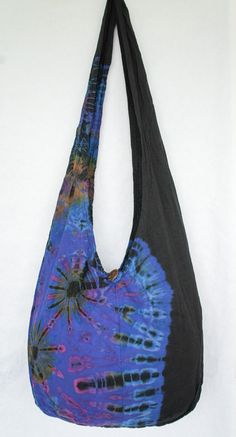 YAAMSTORE purple daisies handmade Tie die sling bag by yaamstore, $11.99