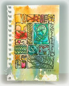 Eclectic Paperie: Follow Your Heart in watercolors (by Broni Holcombe)