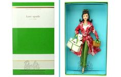 Limited Edition Kate Spade New York Barbie Collectibles Barbie. Limited Edition, 2003. Barbie Collectibles. Barbie, Coat, Top, Pants, Shoes, Necklace. Earrings, Sunglasses, Purse, Bag, Dog. Stand, Certificate of Authenticity.
