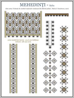Semne Cusute: ie din OLTENIA, Mehedinti, Balta Romania People, Folk Embroidery, Hama Beads, Traditional Art, Beading Patterns, Blackwork, Pixel Art, Cross Stitch Patterns, Needlework