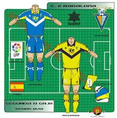 CF Badalona of Spain kits for Football Kits, Spain, Club, Logo, Shirt, Note Cards, Soccer Kits, Soccer Equipment, Logos