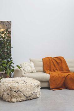 AZILAL CUSHION NO.18  Burnt orange wool blanket and large azilal floor cushion   #interior #interiorinspiration #polishedconcrete #interiordesign #indoorplant #designer #myhabitatonline #beniourain #floorcushion #Beniourainrug #pouf #vintagerug #azilal #azilalrug #wool #woven #handmade #cushion #abstract #abstractpattern #abstractart #custommade #rug #wovenrug #knottedrug #fluffypillow #fluffy #kilimrug#flatweave