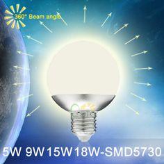 New LED Bulb 360 Degree E27 LED Energy Saving lamps 5W 9W 15W 18W SMD5730 185-265V LED Light Warm white/white A60 A70 A80 A90 - http://www.aliexpress.com/item/New-LED-Bulb-360-Degree-E27-LED-Energy-Saving-lamps-5W-9W-15W-18W-SMD5730-185-265V-LED-Light-Warm-white-white-A60-A70-A80-A90/1967653852.html