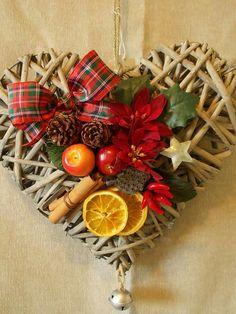 Colgante de corazón adornos navideños