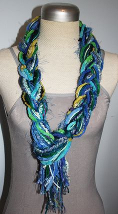 Scarfs How To Make And Yarns On Pinterest