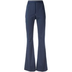 Pierre Balmain striped high-waisted trousers (321.635 CLP) ❤ liked on Polyvore featuring pants, blue, high waisted striped pants, high-waist trousers, highwaist pants, blue pants and high waisted trousers