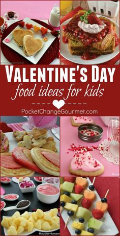 Valentine's Day is such a fun holiday for kids! Why not whip up a meal they will LOVE! Valentine's Day Recipes for Kids - Breakfast - Lunch - Dinner and Dessert that your family will remember forever!