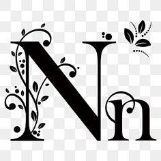 Letter Vector, Letter Logo, Alphabet Letters, Vintage Fonts, Vintage Lettering, Flores Vintage Png, Leaf Font, Merry Christmas Text, Floral Drawing