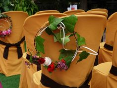 Decoración ceremonia en Restaurante Carlos. Boda Jose Miguel&Ibon