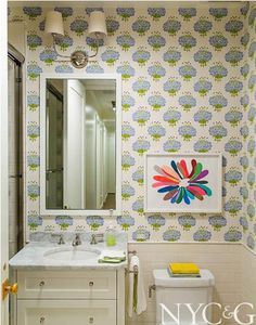 bright bath-awesome wallpaper and art!