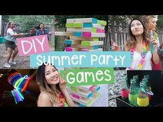 Check out this awesome video for some DIY Summer Party Games like Giant Tipsy Jenga, Ring Toss, & Red Cup Race! Super fun and easy to make!