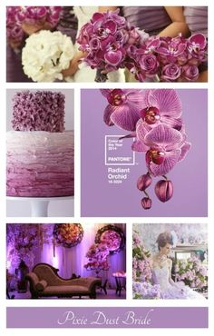 Orchid, wedding colors