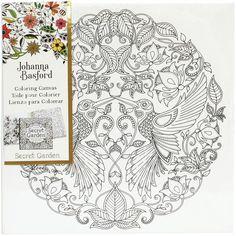 Johanna Basford Hummingbird Colouring Canvas 12 X Cm