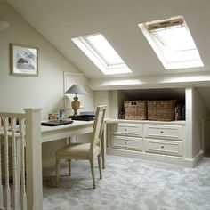Looking for ideas for a loft conversion? Take a look at our great attic renovation ideas, from bedroom loft conversions to bathroom loft conversions Small Loft Bedroom, Attic Living Rooms, Small Loft Spaces, Small Attic Room, Attic Bedroom Designs, Attic Bedrooms, Attic Design, Loft Room, Attic Spaces