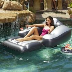 1000 images about epic pool floaties on pinterest pools for Motorized lounge chair pool float