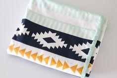 Simple, Modern Aztec baby blanket tutorial.