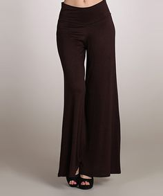 Look what I found on #zulily! Brown Palazzo Pants by 42POPS #zulilyfinds