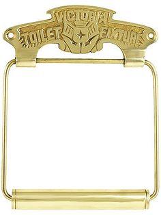 "Antique Toilet Paper Holders. Brass ""Victoria Toilet Fixture"" Toilet Paper Holder"