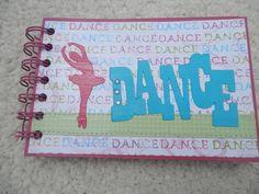 4x6 Dance Chipboard Mini Scrapbook