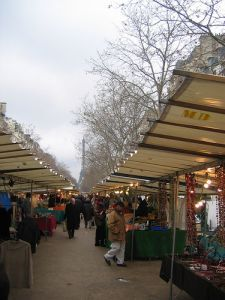 The Saxe-Breteuil market starts at Place de Breteil and stretches to Avenue de Segur. There is no more lovely setting, as it is framed by the Eiffel Tower and the Invalides. Farmers and producers come from all over France to sell their specialties and this market is known for its high quality foods, including many organic ones.. They sell everything!  \Thursday and Saturday morning.(CW10-2)