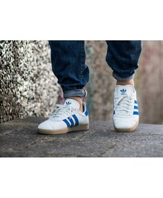 check out 3df70 b3e6c Mens Adidas Gazelle Vintage White Bold Blue Gum Trainer Adidas Gazelle Mens,  Adidas Men,