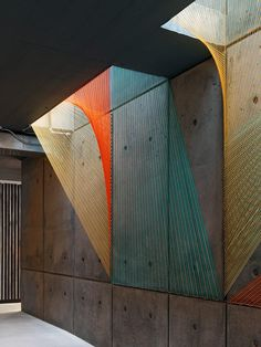 Inés Esnal's Prism Installation Brings Vivid Colors and Optical Illusions to NYC Lobby