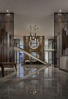 归·真 返璞归真 Asian Interior Design, Chinese Interior, Luxury Interior, Interior Design Inspiration, Interior Styling, Interior Architecture, Shenzhen, Interior Stairs, Oriental Design
