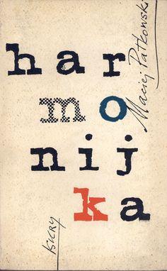 """""""Harmonijka"""" Maciej Patkowski Cover by Janusz Grabiański (Grabianski) Published by Wydawnictwo Iskry 1959"""