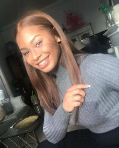 Black Coffee Hair With Ombre Highlights - 10 Cool Ideas of Coffee Brown Hair Color - The Trending Hairstyle Honey Brown Hair, Light Brown Hair, Light Hair, Growing Out Short Hair Styles, Curly Hair Styles, Natural Hair Styles, Black Girl Hair Colors, Brown Hair Colors, Black Girls