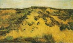 Van Gogh - Dunes, August 1882, The Hague, oil on panel, 14.2 x 23 inches