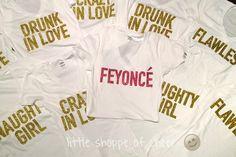 When your bride loves Beyoncé... #bachelorette #feyonce #littleshoppeofcheer ✨