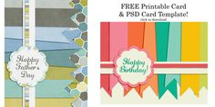 Free Father's Day card printable and layered psd template