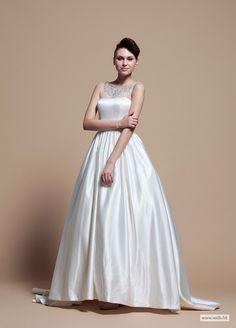 Simple Yet Elegant Full A-Line Wedding Dress