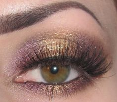 Gold and Purple Makeup look